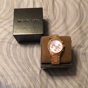 Michael Kors rose gold watch/lavender face
